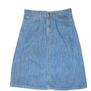 Gap Waisted Jean Skirt